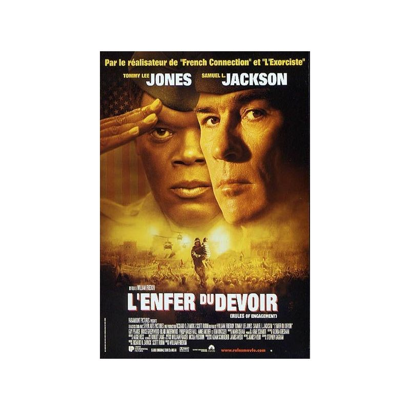 Affiche L'Enfer du Devoir (Tommy Lee Jones, Samuel L. Jackson)