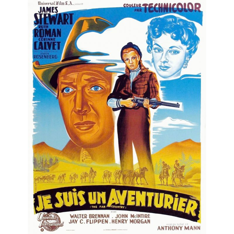 Affiche Je suis un Aventurier (James Stewart)