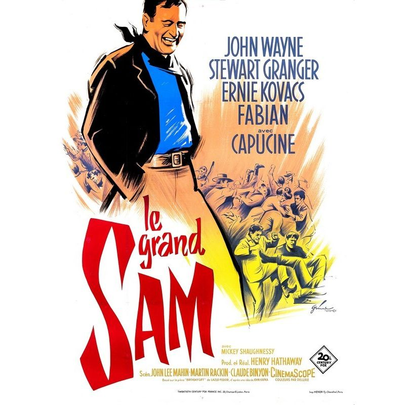 Affiche Le Grand Sam (John Wayne & Stewart Granger)