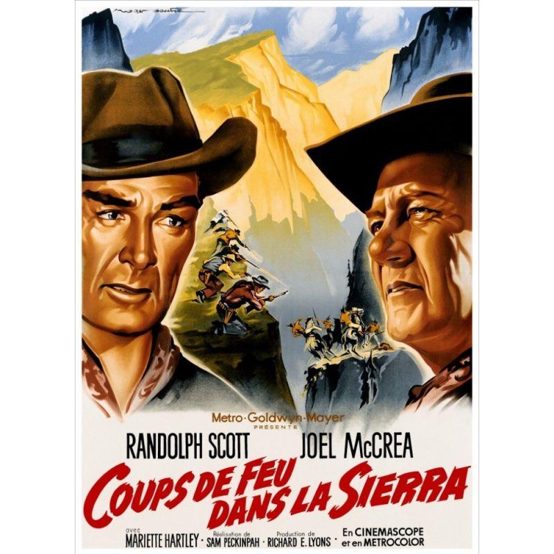 Affiche Coups de feu dans la Sierra (Randolph Scott)