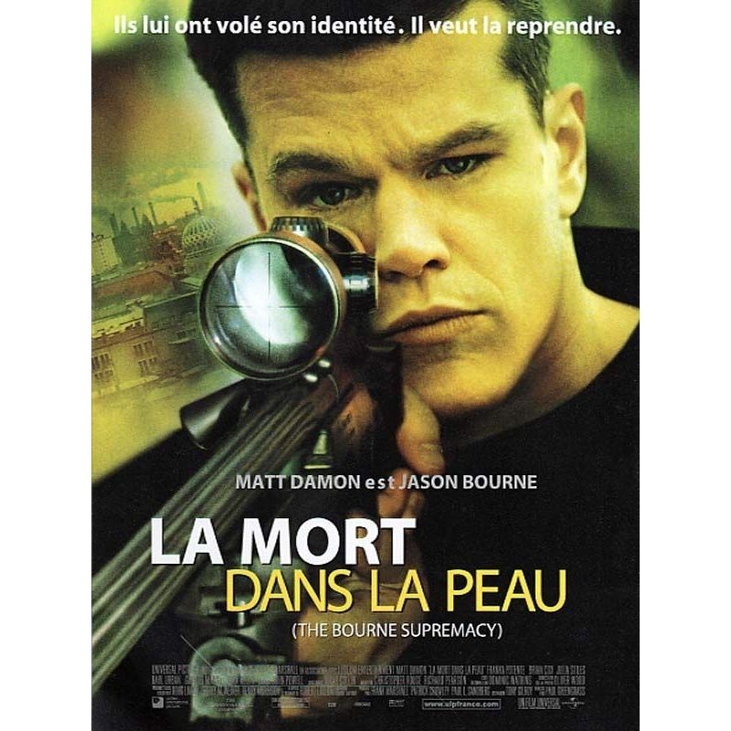 Affiche La Mort dans la Peau (Matt Damon)