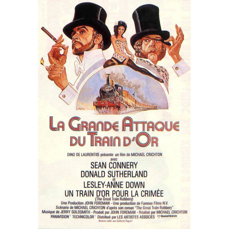 Affiche La Grande Attaque du Train d'Or (Avec Sean Connery)