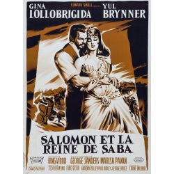 Affiche Salomon et la Reine de Saba (Yul Brynner, Gina Lollobrigida)