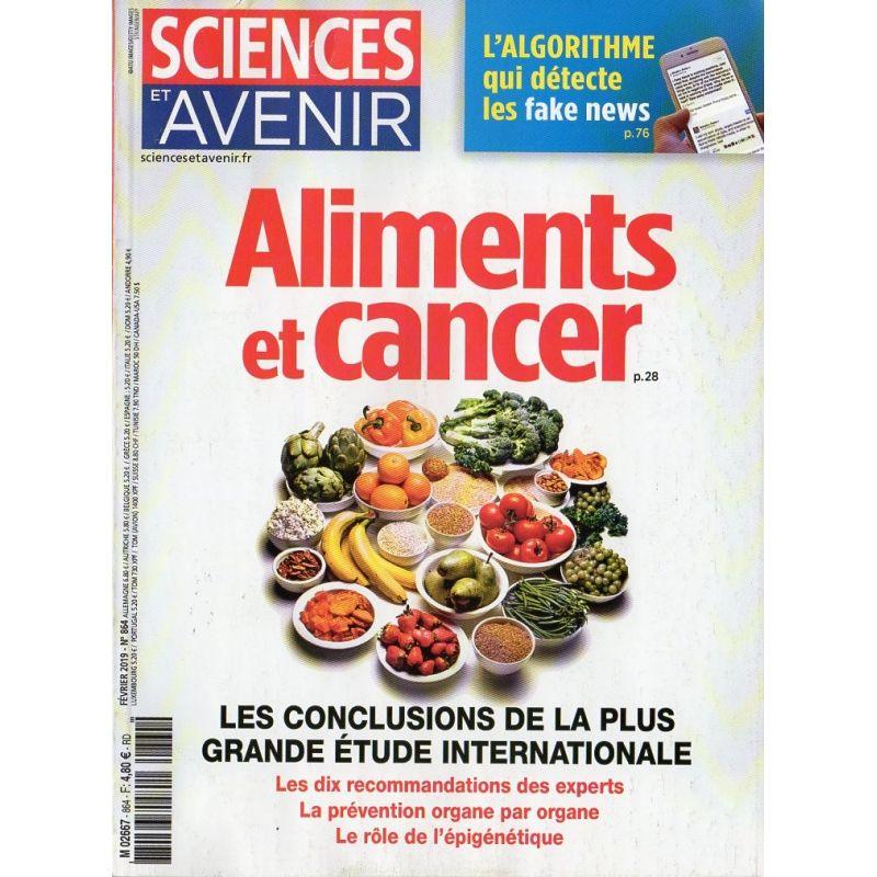 Sciences et Avenir n° 864 - Aliments et Cancer, les conclusions