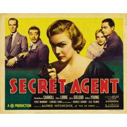 Affiche Quatre de l'espionnage (d'Alfred Hitchcock)