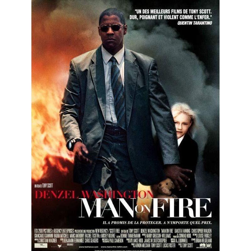 Man on Fire (Denzel Washington) affiche film