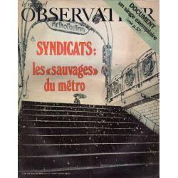 """Le Nouvel Observateur n° 362 - 18 octobre 1971 - Syndicats : les """"sauvages"""" du métro"""