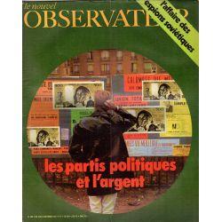 Le Nouvel Observateur n° 360 - 4 octobre 1971 - Les Partis Politiques et l'Argent