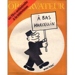 Le Nouvel Observateur n° 358 - 20 septembre 1971 - A bas Marcellin (Wolinski)