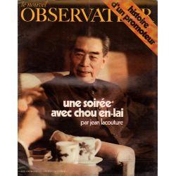 Le Nouvel Observateur n° 352 - 9 aout 1971 - Une soirée avec Chou En-Lai