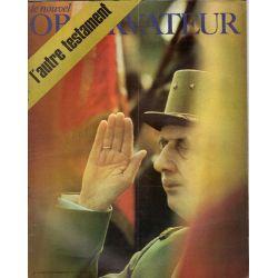 Le Nouvel Observateur n° 314 - 16 novembre 1970 - Gouvernement : l'autre testament