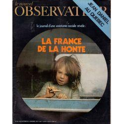 Le Nouvel Observateur n° 311 - 26 octobre 1970 - La France de la Honte