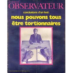 Le Nouvel Observateur n° 309 - 12 octobre 1970 - Conclusion d'un test : Nous pouvons tous être tortionnaire