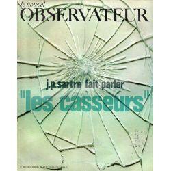 """Le Nouvel Observateur n° 288 - 18 mai 1970 - J.P. Sartre fait parler """"les casseurs"""""""