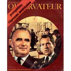 Le Nouvel Observateur n° 276 - 23 février 1970 - Pompidou : l'épreuve américaine