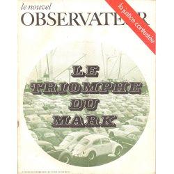 Le Nouvel Observateur n° 256 - 6 octobre 1969 - Le triomphe du Mark