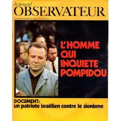Le Nouvel Observateur n° 254 - 22 septembre 1969 - L'homme qui inquiète Pompidou, Georges Séguy