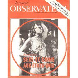 Le Nouvel Observateur n° 249 - 18 août 1969 - Sexe et crime aux États-Unis