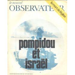 Le Nouvel Observateur n° 243 - 7 juillet 1969 - Pompidou et Israël