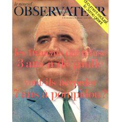 Le Nouvel Observateur n° 239 -9 juin 1969 - Les français ont refusé 3 ans à de Gaulle vont-ils accorder 7 ans à Pompidou ?