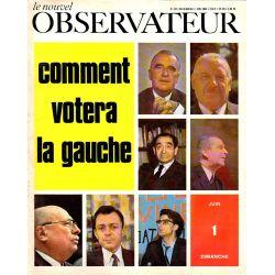 Le Nouvel Observateur n° 237 - 26 mai 1969 - Comment votera la gauche ?