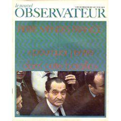 """Le Nouvel Observateur n° 236 - 19 mai 1969 - Pierre Mendès France : """"pourquoi j'entre dans cette bataille"""""""