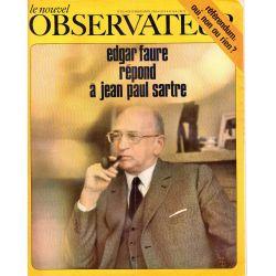 Le Nouvel Observateur n° 229 - 31 mars 1969 - Edgar Faure répond à Jean-Paul Sartre