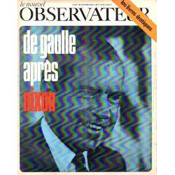 Le Nouvel Observateur n° 225 - 3 mars 1969 - De Gaulle après Nixon