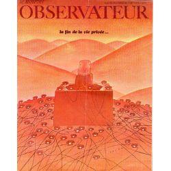 Le Nouvel Observateur n° 222 - 10 février 1969 - La fin de la vie privée...