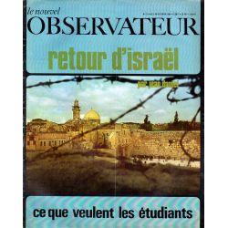 Le Nouvel Observateur n° 221 - 3 février 1969 - Retour d'Israël