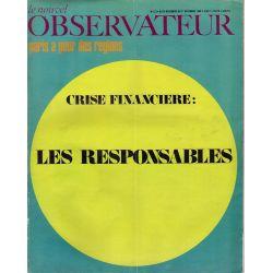 Le Nouvel Observateur n° 211 - 25 novembre 1968 - Crise financière : les responsables