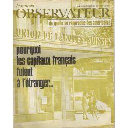 Le Nouvel Observateur n° 210 - 18 novembre 1968 - Pourquoi les capitaux français fuient à l'étranger...