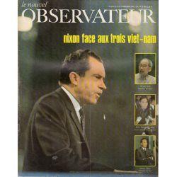 Le Nouvel Observateur n° 209 - 11 novembre 1968 - Nixon face aux trois Viet-nam