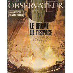 Le Nouvel Observateur n° 206 - 21 octobre 1968 - Le drame de l'Espace - L'opération contre Delon