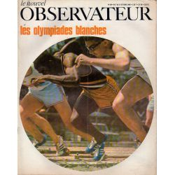 Le Nouvel Observateur n° 204 - 7 octobre 1968 - Les Olympiades blanches