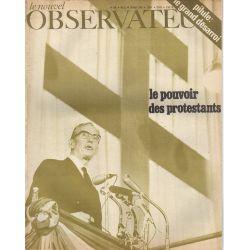Le Nouvel Observateur n° 196 - 12 aout 1968 - Le pouvoir des protestants