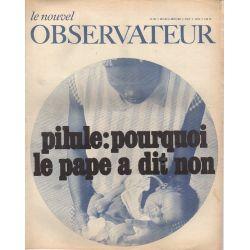 Le Nouvel Observateur n° 195 - 5 aout 1968 - Pilule : pourquoi le Pape a dit non