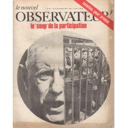 """Le Nouvel Observateur n° 193 - 22 juillet 1968 - Le """"coup"""" de la participation"""