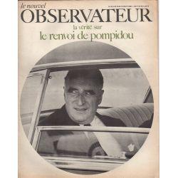 Le Nouvel Observateur n° 192 - 15 juillet 1968 - La vérité sur le départ de Pompidou