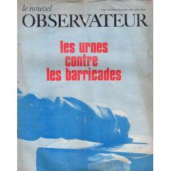 Le Nouvel Observateur n° 189 - 26 juin 1968 - Les urnes contre les barricades