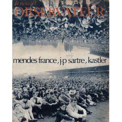 Le Nouvel Observateur n° 188 - 19 juin 1968 - Mendes France, JP Sartre, Kastler