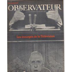 Le Nouvel Observateur n° 187 - 12 juin 1968 - Les insurgés de la Télévision
