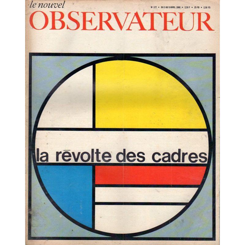 Le Nouvel Observateur n° 177 - 3 avril 1968 - La révolte des cadres
