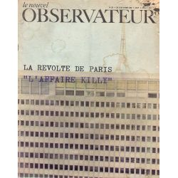 "Le Nouvel Observateur n° 174 - 13 mars 1968 - La révolte de Paris, ""L'affaire Killy"""