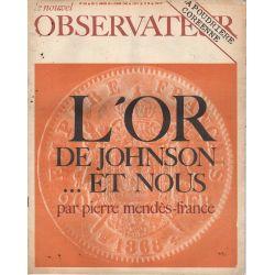 Le Nouvel Observateur n° 168 - 31 janvier 1968 - L'Or de Johnson ... et nous