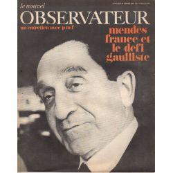 Le Nouvel Observateur n° 164 - 3 janvier 1968 - Mendès France et le défi gaulliste