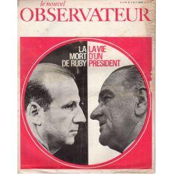 Le Nouvel Observateur n° 113 - 11 janvier 1967 - La mort de Ruby, La vie d'un Président