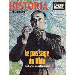 Historia Magazine 2e Guerre Mondiale n° 89 - La passage du Rhin, De Lattre en Allemagne