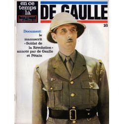 """En ce temps là De Gaulle n° 16 - Le manuscrit """"Soldat de la Révolution"""" annoté par de Gaulle et Pétain"""