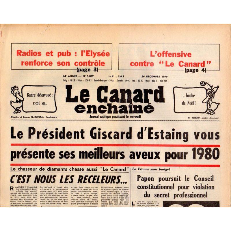 26 décembre 1979 - Canard Enchaîné (le) - n° 3087